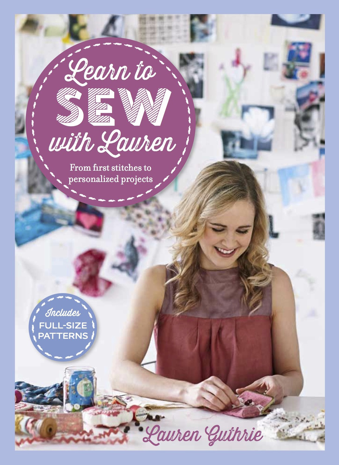 Lauren guthrie learn to sew book cover